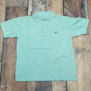 Lacoste Polo Sea Green/Blue Size 6 Large